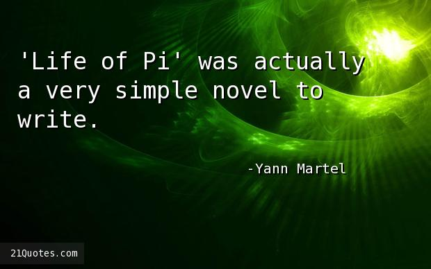 Yann martel quotes for Life of pi name